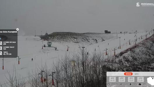 Zdjęcie z nowości Ośrodek Narciarski KURZA GÓRA na MAZURACH wczoraj wystartował - zobacz warunki na stoku z kamery obrotowej.