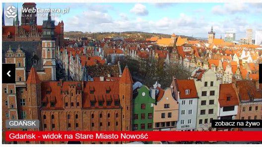 Zdjęcie na zabytkową Starówkę w Gdańsku.