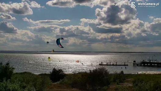 Widok z Kamery na Zatokę Pucką na żywo