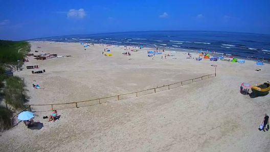 Widok na Promenadę i Plażę w JANTARZE