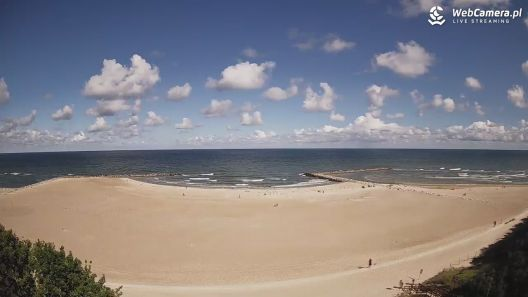 Widok z Kamery na plażę Dubaj w Jarosławcu