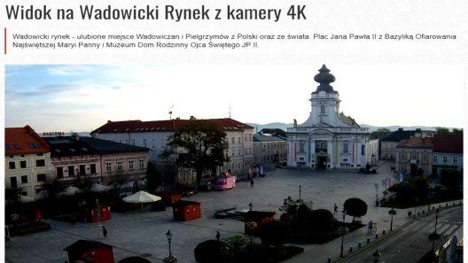 Widok na Wadowicki Rynek w 4K