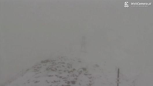 Dziś pierwszy śnieg na Kasprowym Wierchu