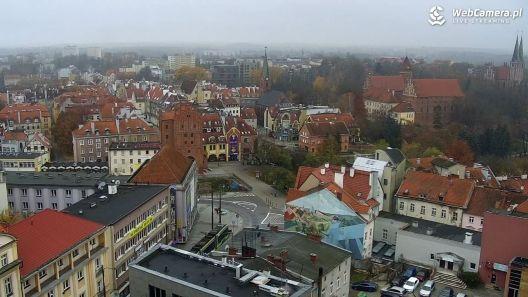 Widok z Kamery na panoramę miasta Olsztyna na żywo
