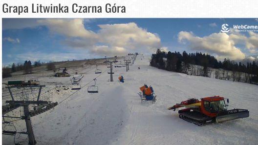 Ujęcie z kamery na stok GrapaSKI w Czarnej Górze