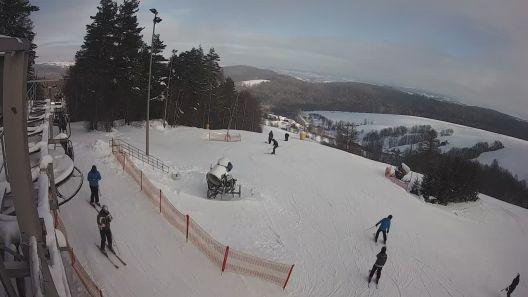 Widok z Kamery na górny odcinek trasy Kiczeraski