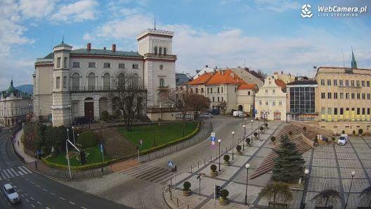 Widok z Kamery na centrum Bielska-Białej na żywo