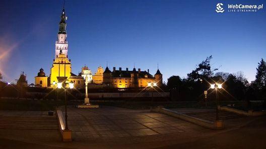Widok z Kamery na Jasną Górę w Częstochowie.