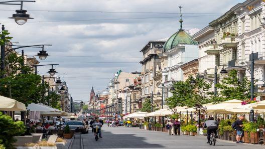 Kamera na najdłuższy deptak w Europie - Ulicę Piotrkowską w Łodzi