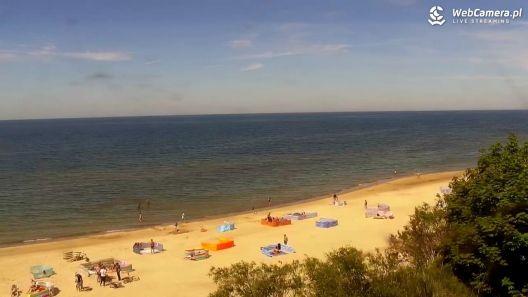 Widok z Kamery na plażę w Międzywodziu już online