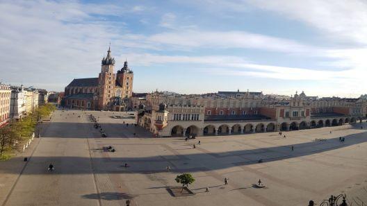 Kamera z widokiem na Rynek w Krakowie