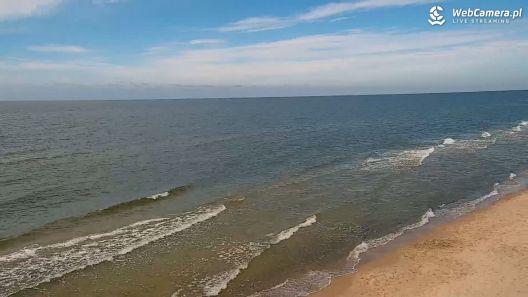 Widok z Kamery na plażę w ROGOWIE na żywo