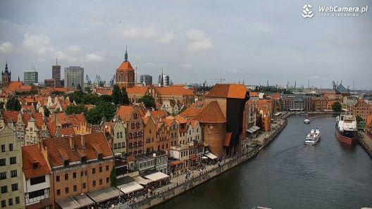 Widok z Kamery na Starówkę i Motławę w Gdański