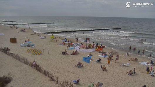 Widok z Kamery na plażę w Sianożętach na żywo