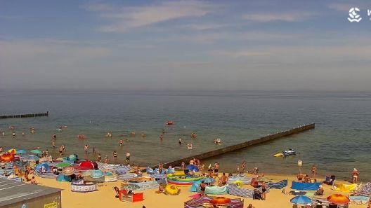 Widok na plażę w Ustroniu Morskim  - KAMERA LIVE