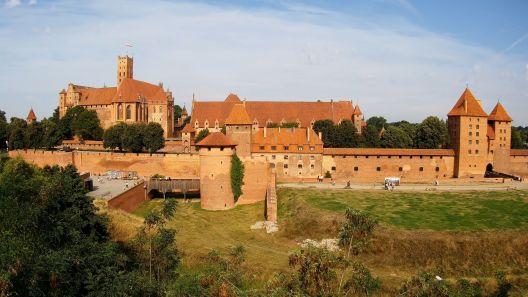 Widok z Kamery 4K na Zamek w Malborku
