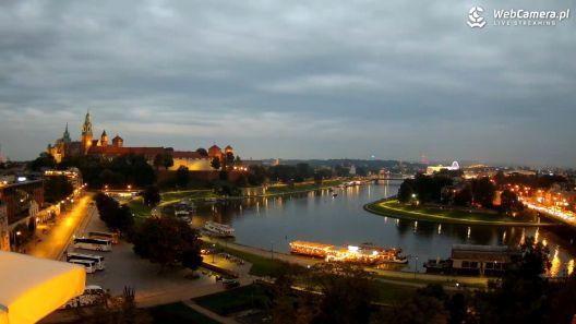 Widok na Wawel i zakole Wisły