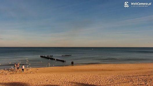 Widok z Kamery na plażę w Mrzeżynie na żywo