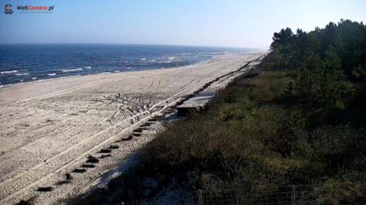 Zdjęcie z nowości Kto tęsknił za pięknym widokiem z KRYNICY MORSKIEJ? Mamy dla Was obraz z plaży w świetnej jakości. Od dziś oglądaj LIVE