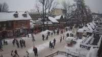 Ulubiony deptak turystów w Zakopanem.