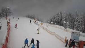 Widok z dolnej stacji narciarskiej Ski Arena w Karpaczu