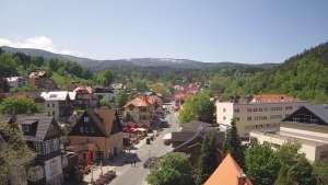 Karpacz - widok panoramiczny na deptak