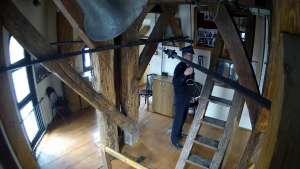 Obraz na Trębacza z 5 kamer z Wieży Mariackiej.