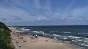 Widok z Kamery na plażę w Rewalu