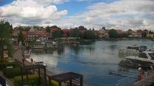Widok na Jezioro i Marinę w RYNIE - KAMERA LIVE