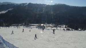 Widok z Kamery na KLEPKI ON w Wiśle