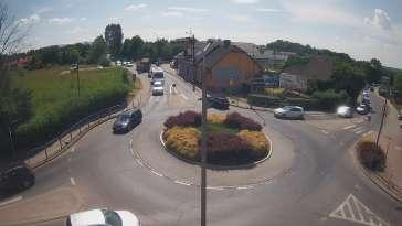 Widok z Kamery na rondo na żywo Hałcnów