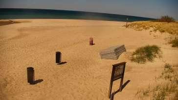 Widok z Kamery na plażę w Bobolinie