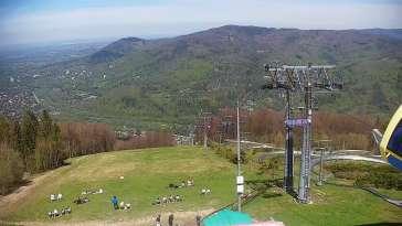 Widok z Kamery na stację narciarską CZANTORIA