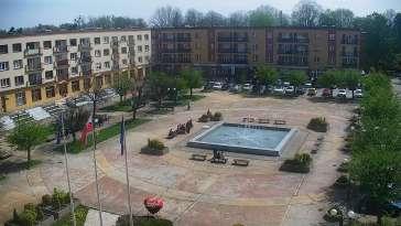 Widok z kamery online na Plac Jana Pawła II w Czechowicach-Dziedzicach