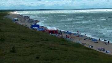 Widok z Kamery na plażę w Darłowie