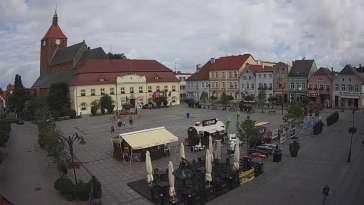 Kamera w Darłowie skierowana na Plac Kościuszki.