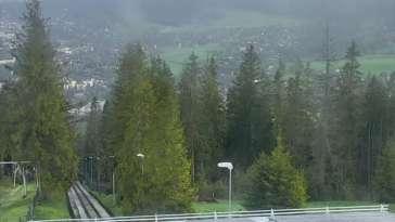Kamera z Gubałówki z widokiem na Kasprowy Wierch.
