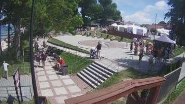 Widok z Kamery na plac widokowy Róża Wiatrów w Jarosławcu