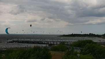 Jastarnia - widok z kamery na Zatokę Pucką