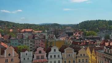 Widok z Kamery na panoramę miasta Jelenia Góra