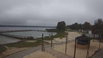 Widok na Jezioro Białe znajdujące się we wschodniej Polsce.