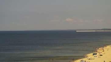 Widok na plażę i morze w Kątach Rybackich - zobacz