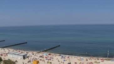 Kamera Kołobrzeg promenada, bulwar, plaża, morze