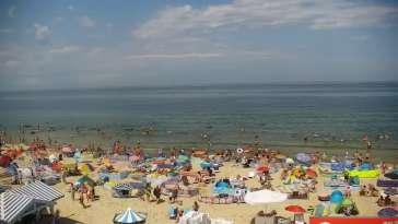 Krynica Morska widok na plażę i morze