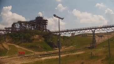 Widok na najdłuższy stok narciarski na Mazurach
