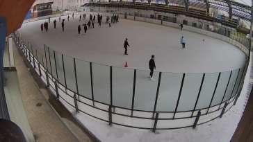 Ujęcie na lodowisko w Pszowie.