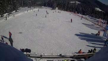 Sprawdź warunki narciarskie z kamery na stok w Małym Cichym.