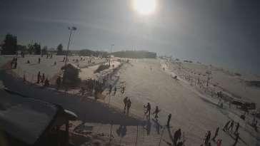Panoramiczny widok na cały komplekt narciarski Master Ski w Tyliczu