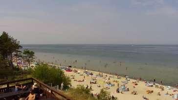 Widok z Kamery na plażę w Międzywodziu