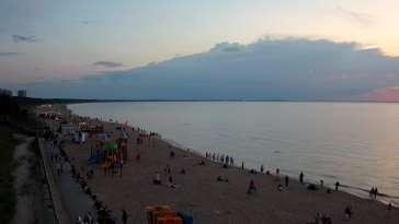 Międzyzdroje plaża zachód cudowny widok z kamery online.